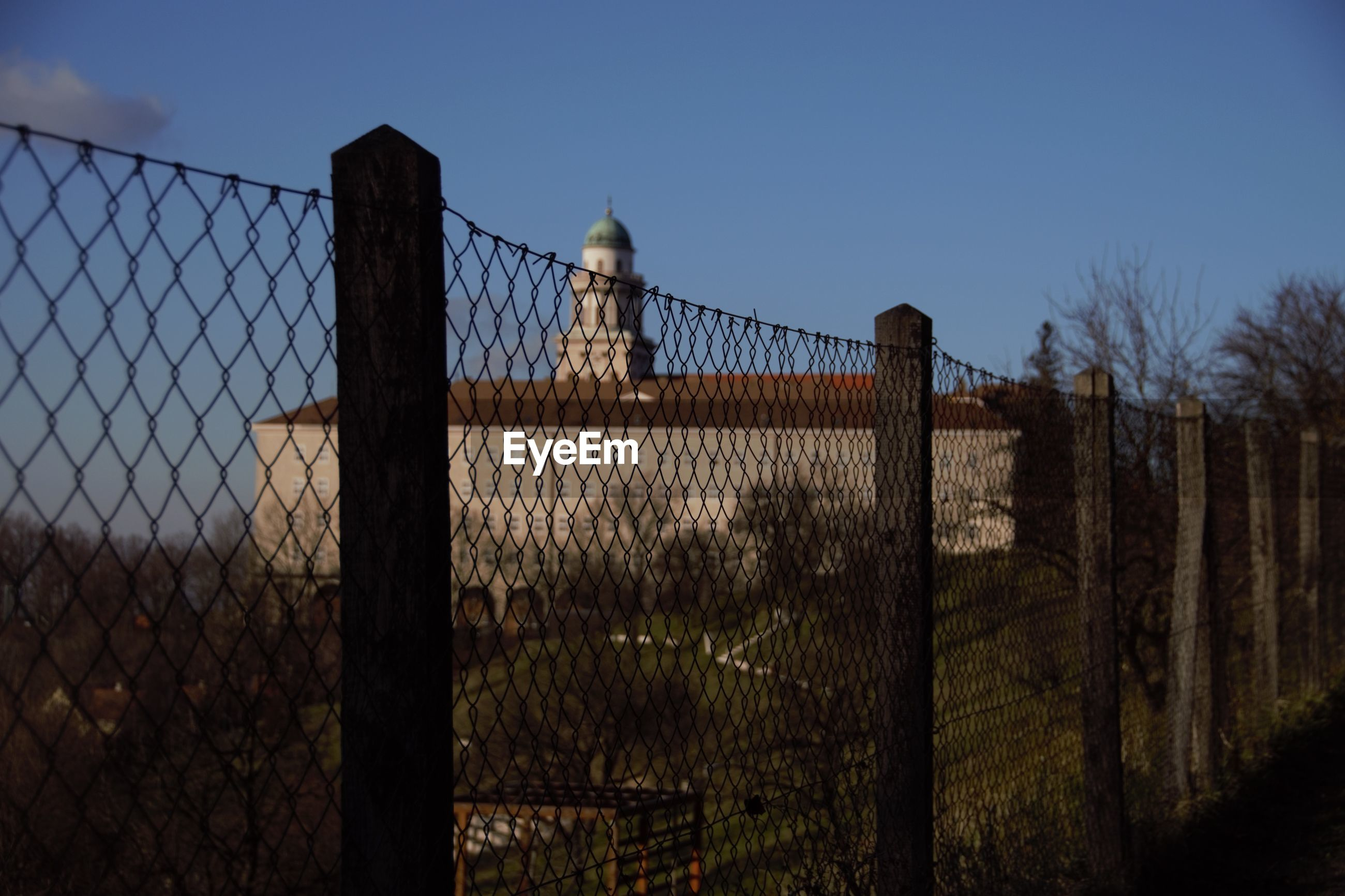 fence, security, protection, safety, metal, sky, built structure, no people, outdoors, architecture, day, nature, security system