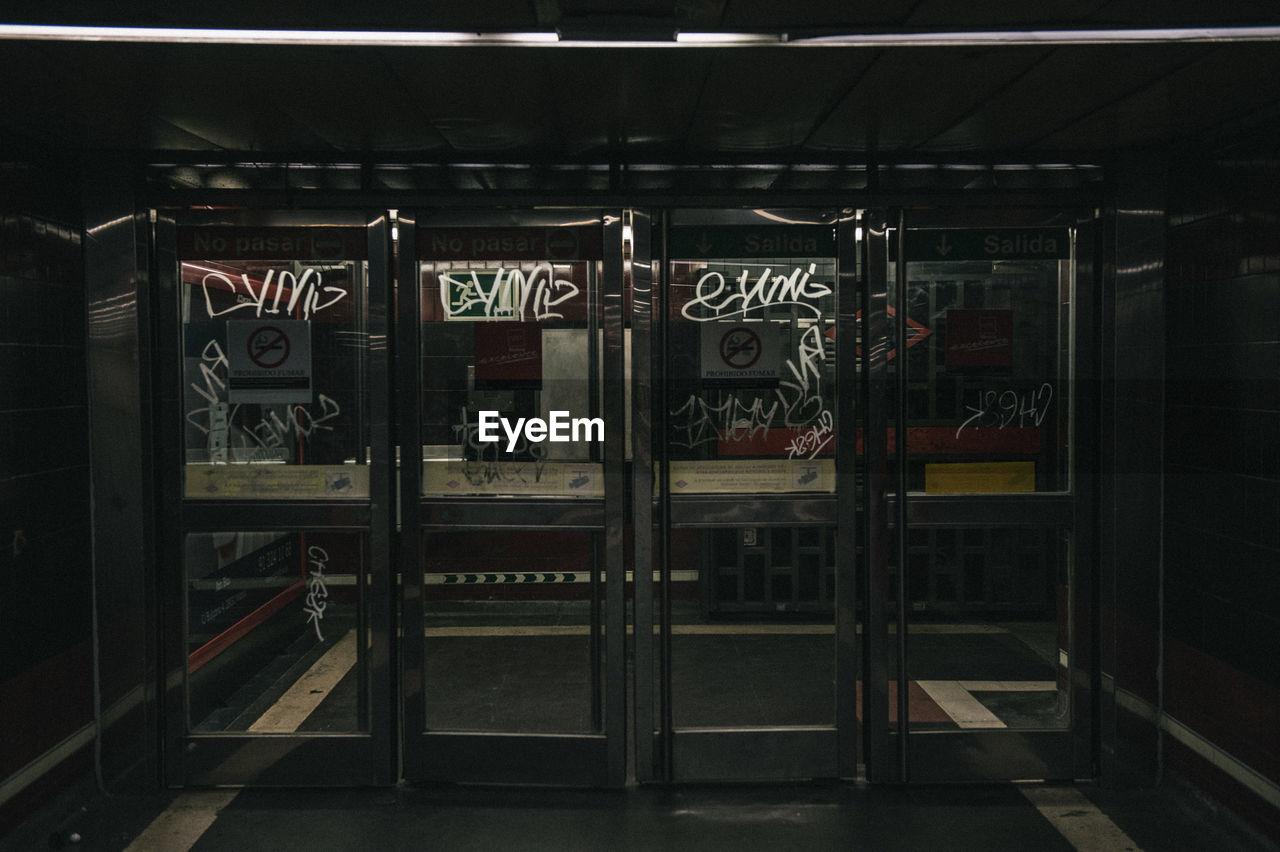 Glass Doors With Graffiti