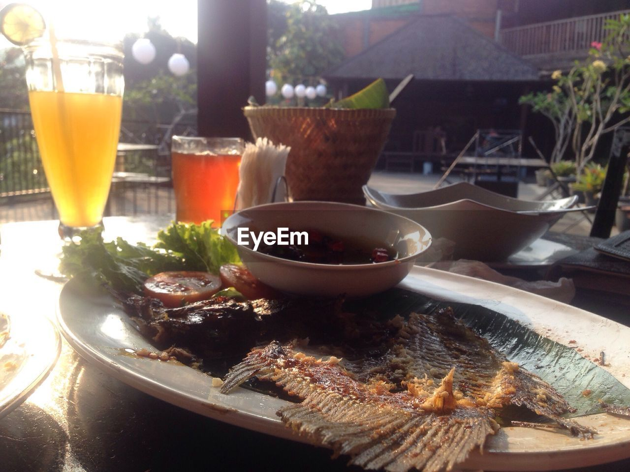 food and drink, food, freshness, healthy eating, no people, drink, plate, table, seafood, close-up, outdoors, day, ready-to-eat