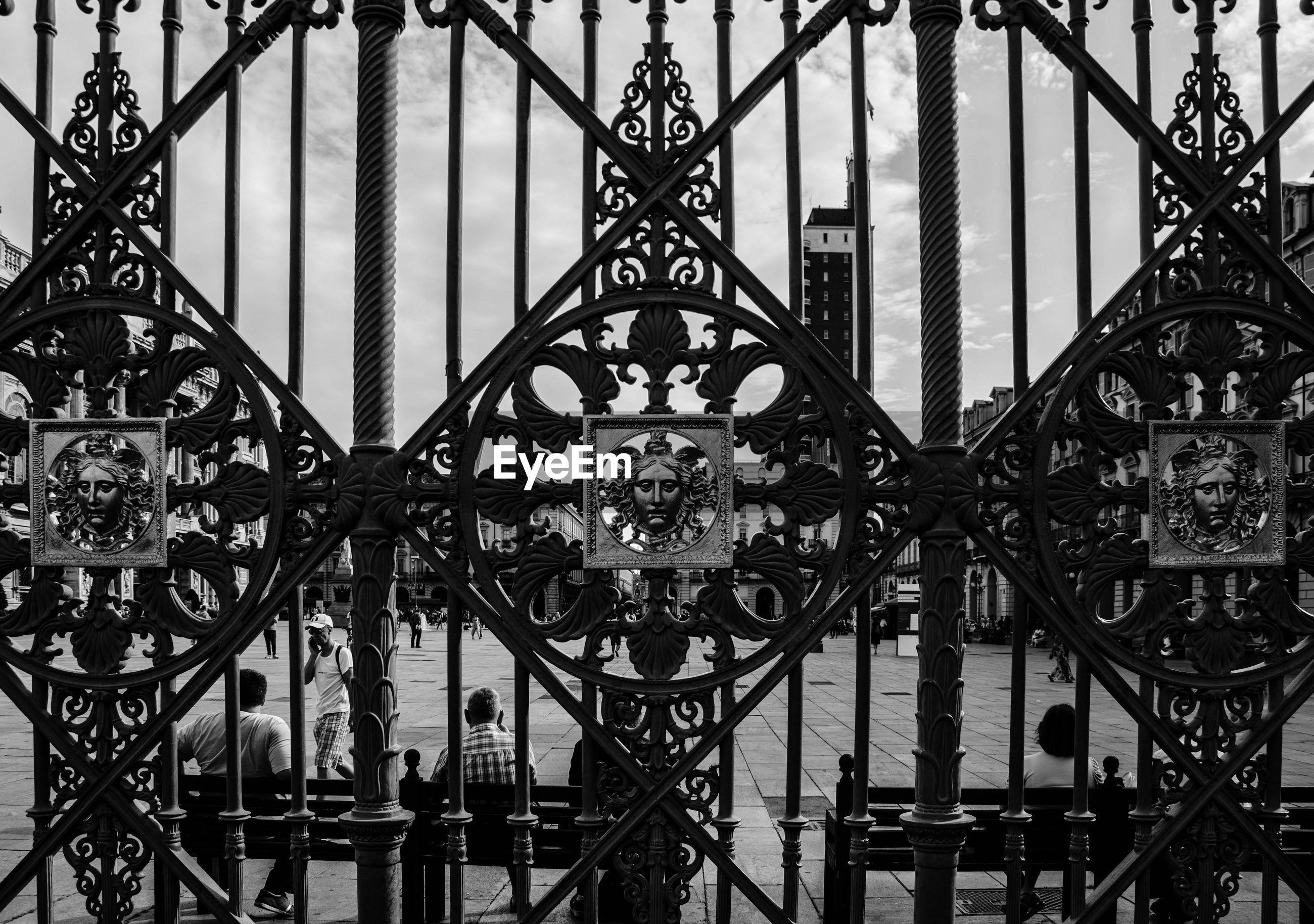 Full frame shot of historic gate