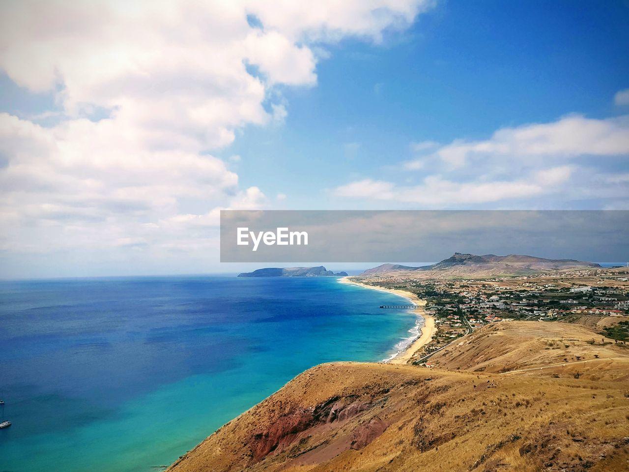 sky, cloud - sky, scenics - nature, beauty in nature, water, sea, tranquil scene, tranquility, land, beach, horizon, nature, horizon over water, day, mountain, no people, idyllic, non-urban scene, outdoors
