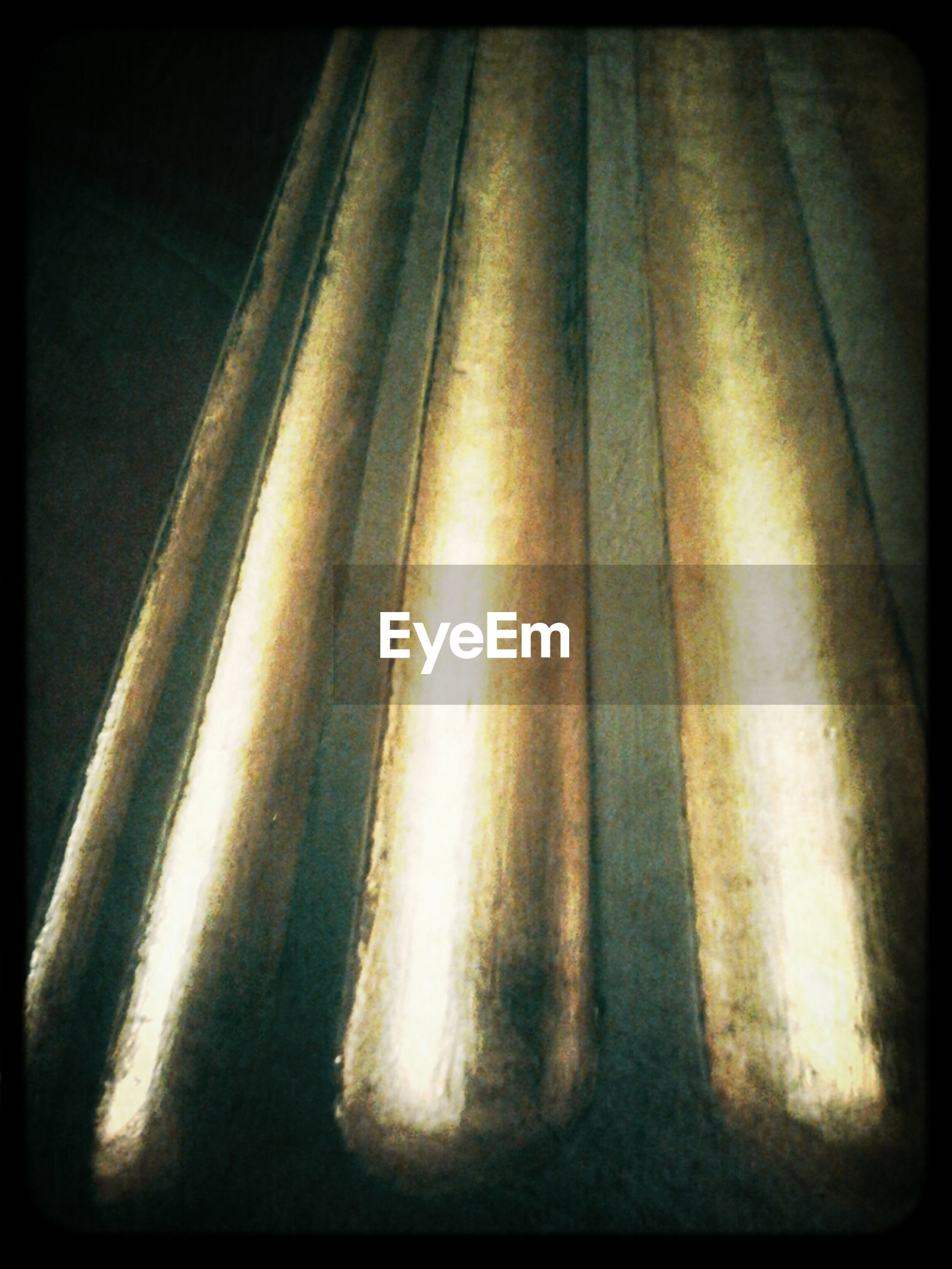 transfer print, auto post production filter, indoors, close-up, pattern, no people, high angle view, in a row, textured, shadow, sunlight, wall - building feature, day, metal, repetition, detail, low angle view, wood - material, design, part of