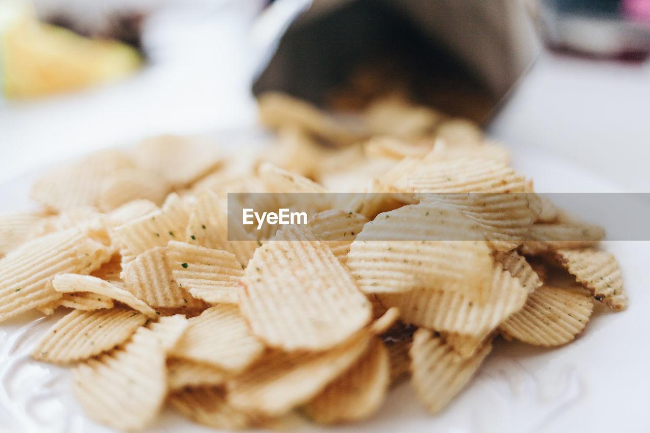 Close-Up Of Potato Chips