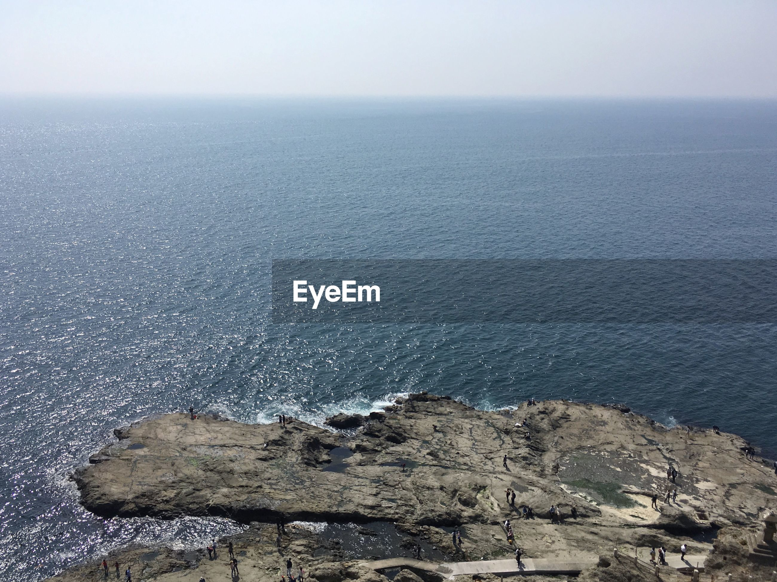 sea, water, scenics - nature, beauty in nature, horizon, horizon over water, sky, rock, tranquility, tranquil scene, nature, no people, rock - object, solid, day, non-urban scene, idyllic, land, high angle view, outdoors, rocky coastline