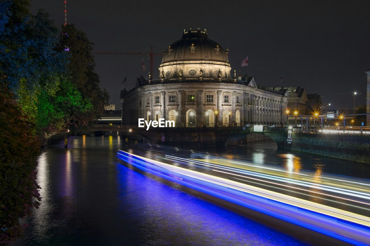 Illuminated Bode-Museum By Spree River