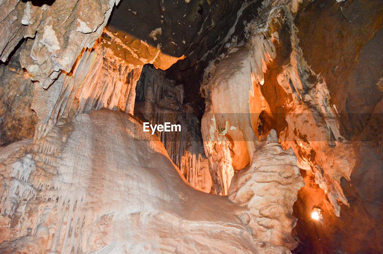 Illuminated Sandstone Cave