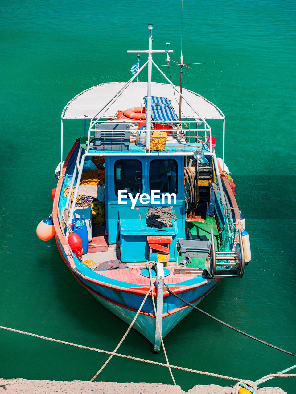 transportation, mode of transportation, nautical vessel, water, sea, moored, nature, high angle view, no people, travel, outdoors, day, mast, rope, ship, journey, motion, turquoise colored