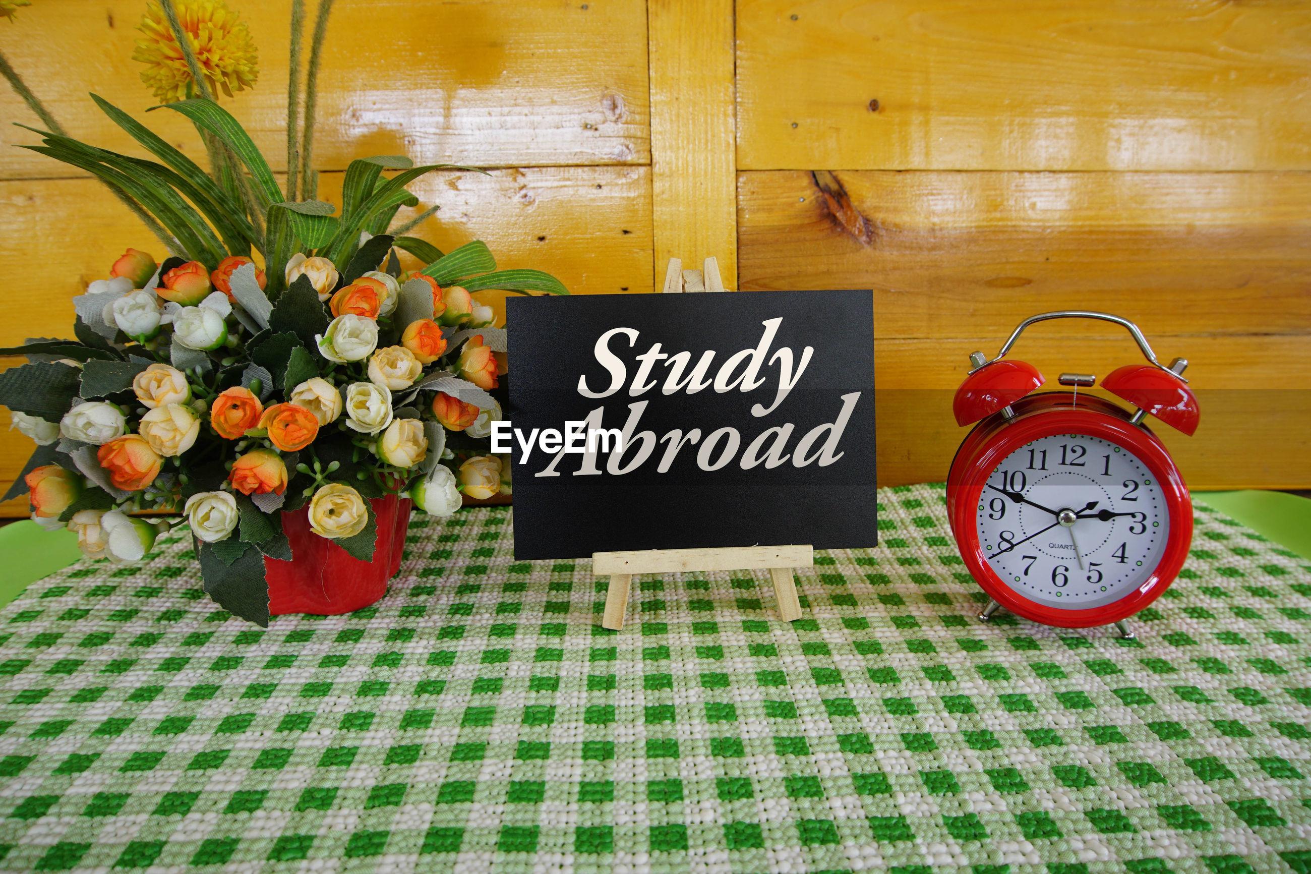 Study abroid written on blackboard