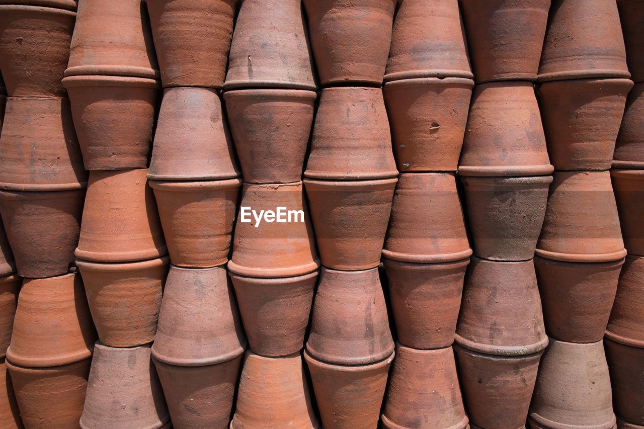 Full frame shot of pot tiles