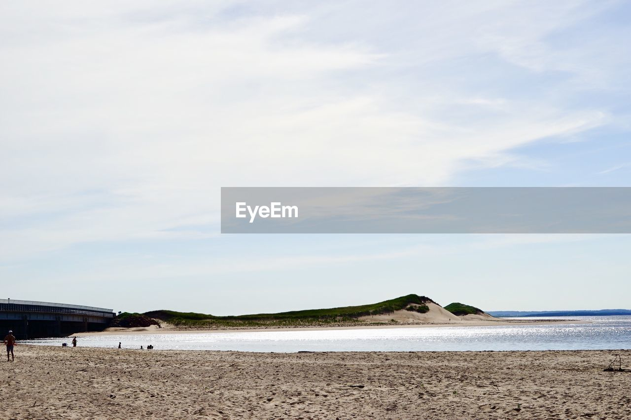 sky, beach, land, sea, water, cloud - sky, sand, scenics - nature, day, beauty in nature, nature, tranquil scene, tranquility, horizon over water, horizon, no people, non-urban scene, outdoors