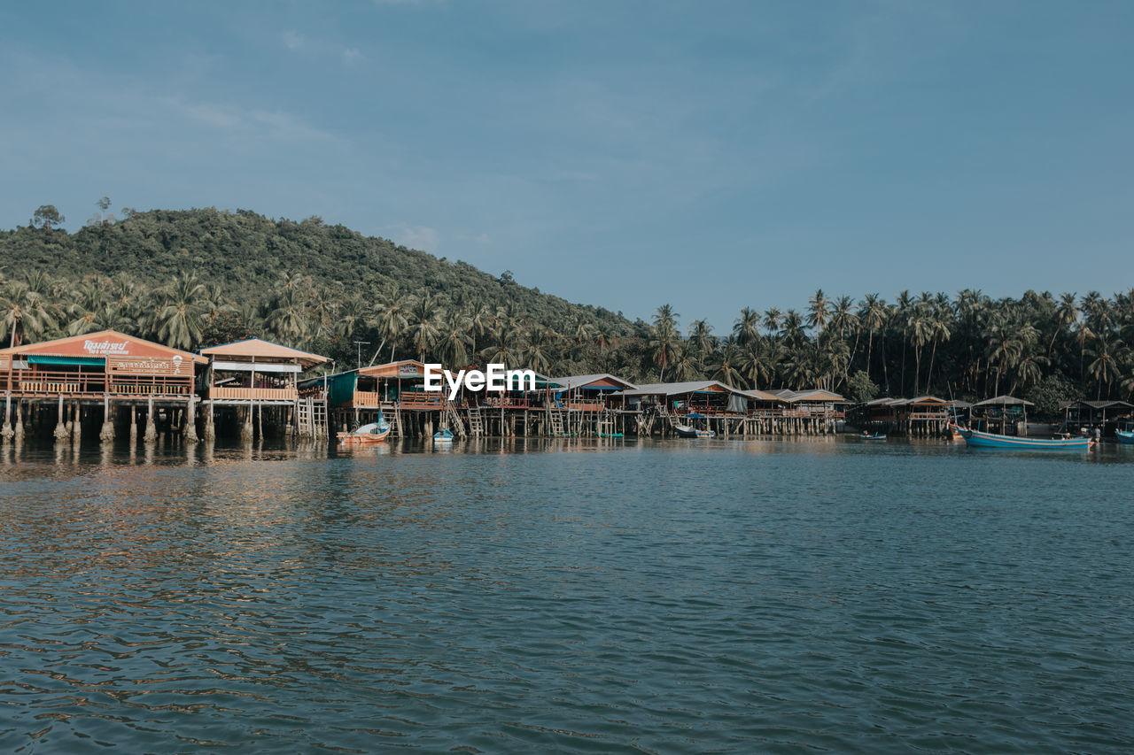 Fishing village background