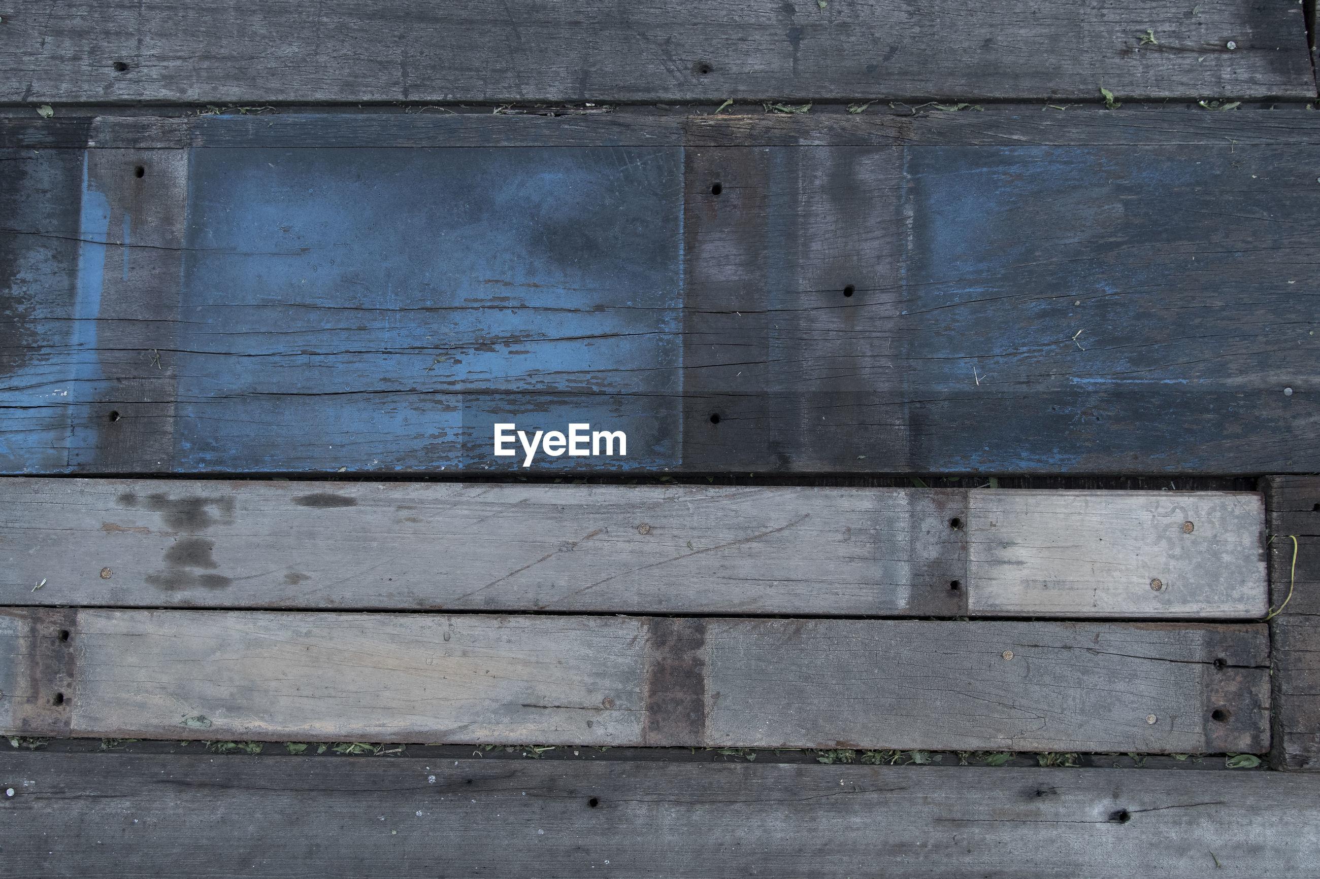 Full frame shot of old boardwalk