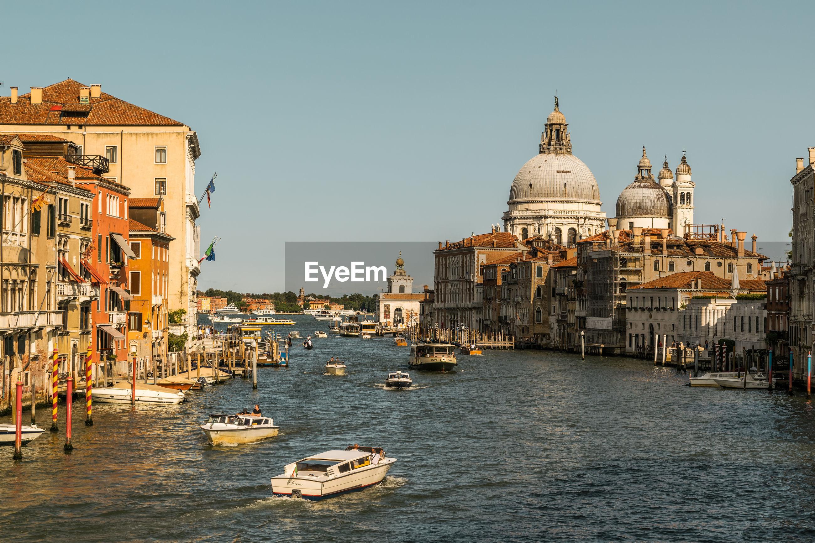 Grand canal and santa maria della salute in city