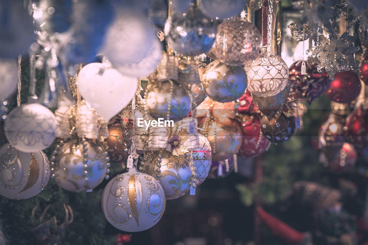 Close-up of illuminated christmas decoration