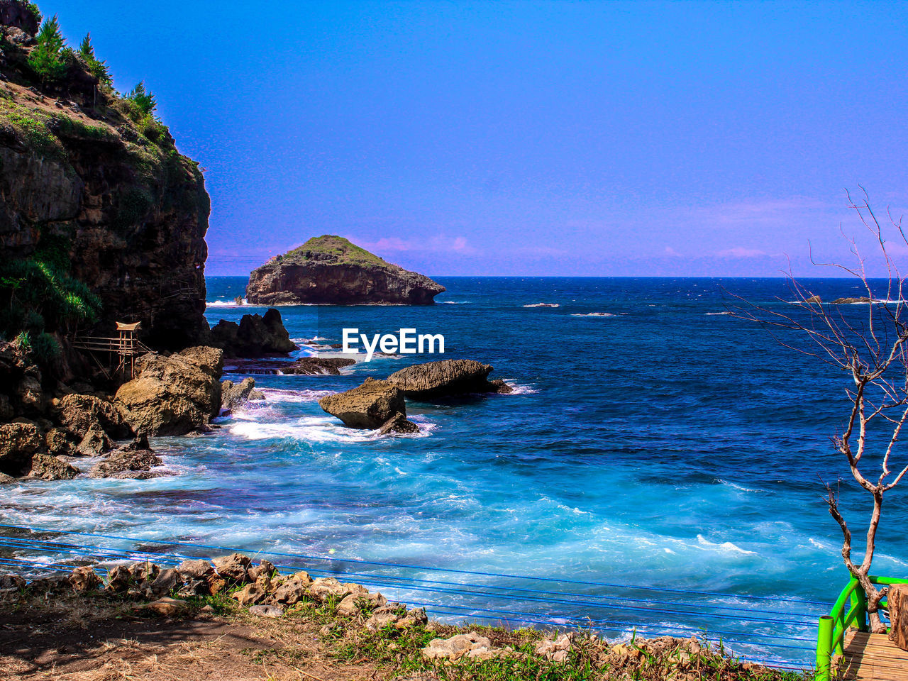sea, water, rock, beauty in nature, scenics - nature, rock - object, sky, solid, horizon over water, rock formation, land, horizon, beach, blue, tranquil scene, tranquility, nature, day, cliff, no people, outdoors, stack rock, eroded, rocky coastline