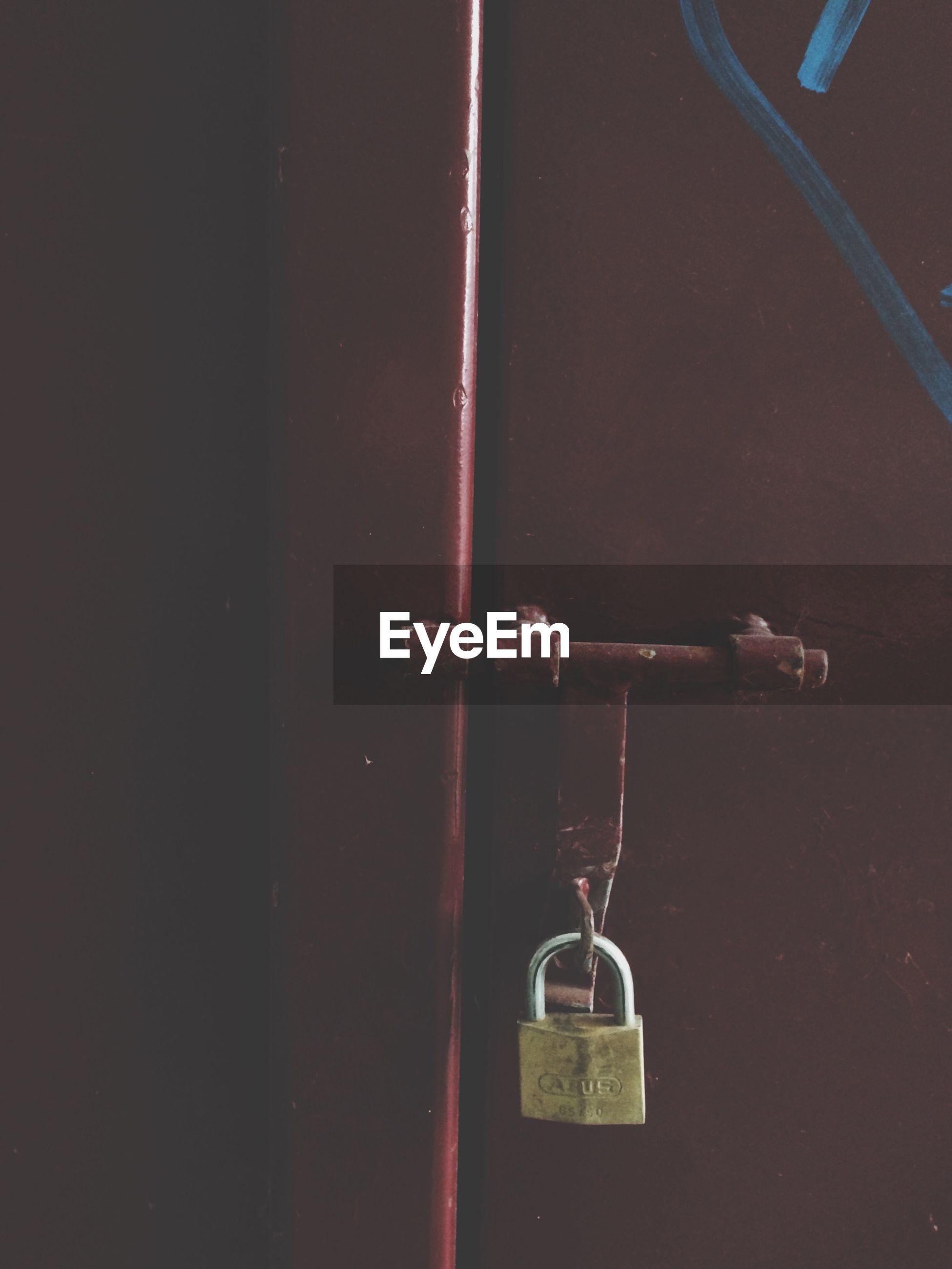Close-up of closed door