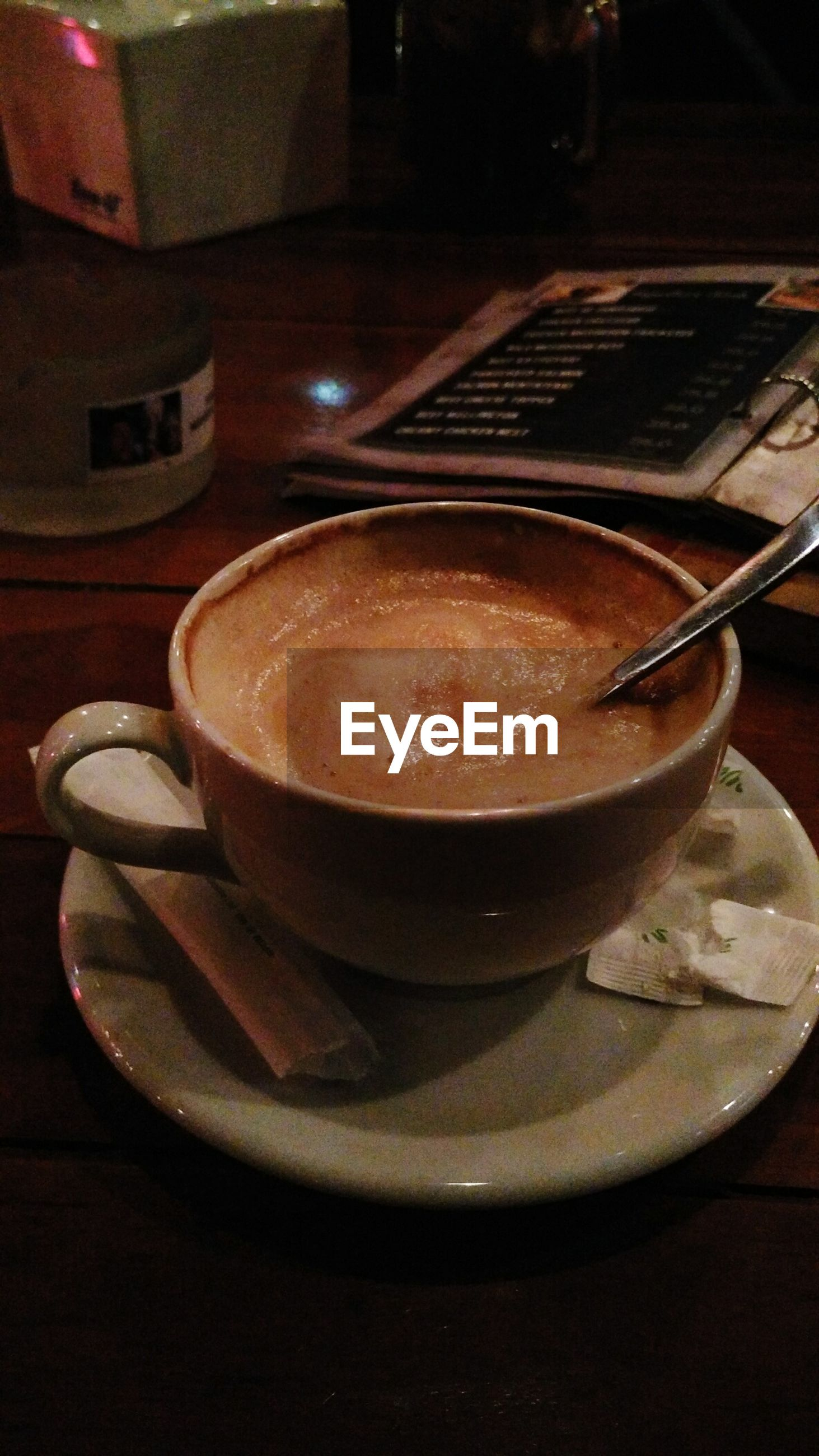 Close-up of coffee on table at restaurant