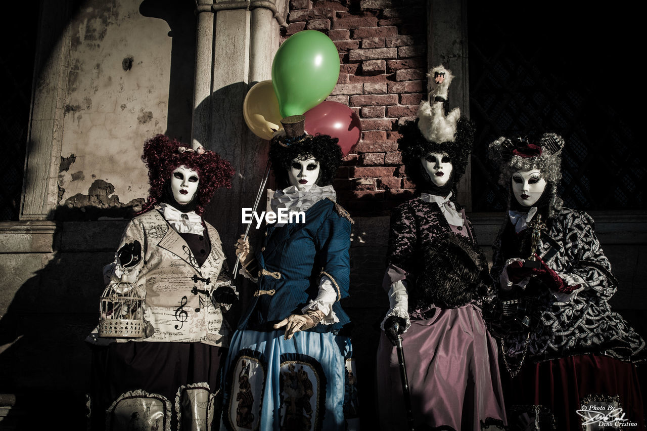 spooky, costume, mask - disguise, mystery, horror, stage costume, venetian mask, evil, indoors, halloween, clown, witch, no people, day