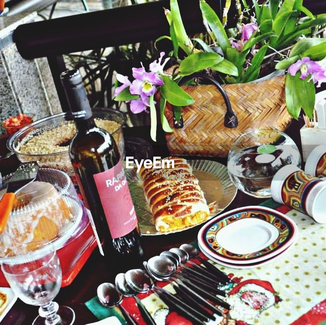 food and drink, table, food, plate, freshness, no people, indoors, indulgence, sweet food, drinking glass, ready-to-eat, close-up, day, healthy eating, flower