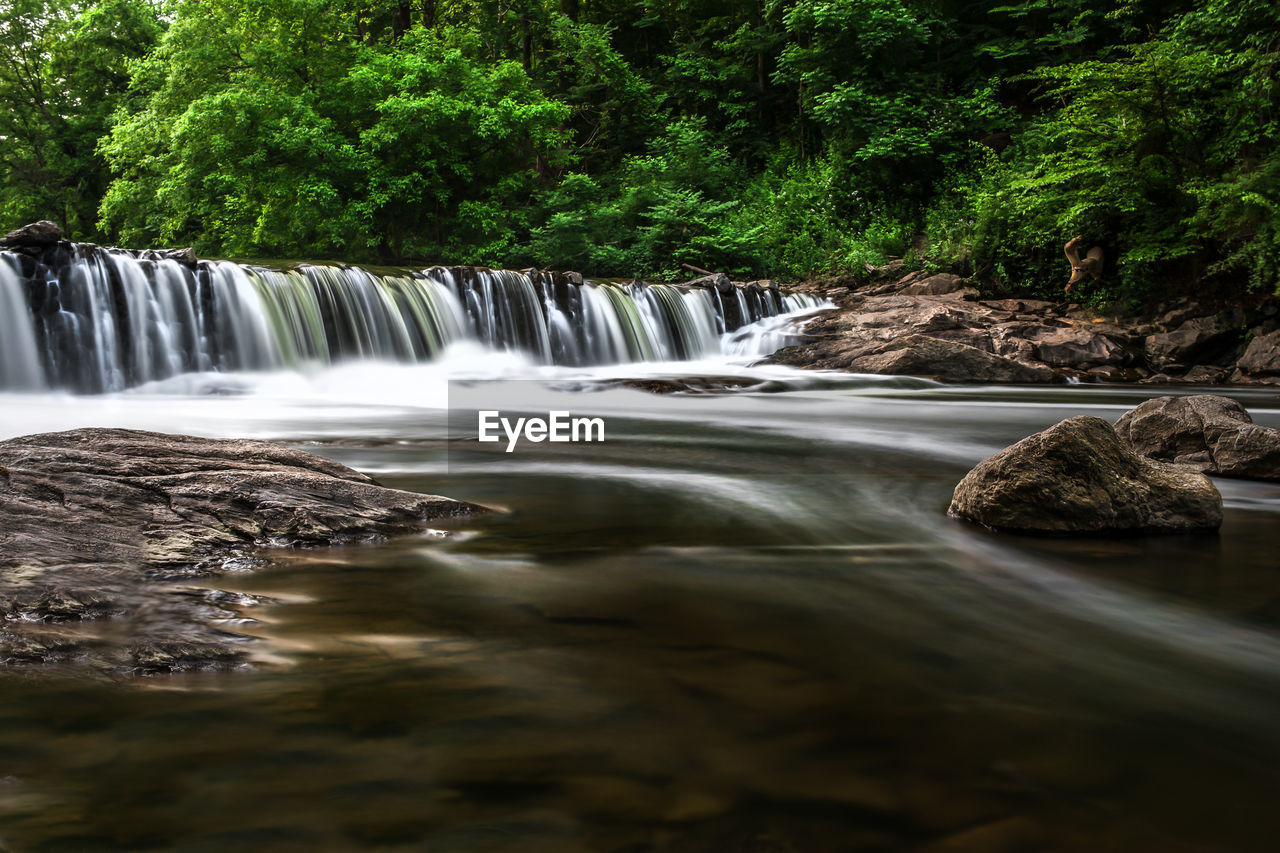 long exposure, tree, water, motion, waterfall, scenics - nature, beauty in nature, flowing water, plant, blurred motion, forest, nature, no people, day, environment, flowing, land, growth, sport, outdoors, power in nature, rainforest, falling water