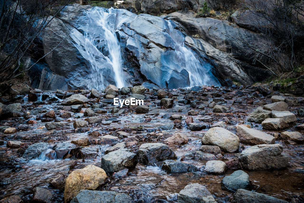 rock - object, nature, water, waterfall, no people, outdoors, beauty in nature, day, scenics