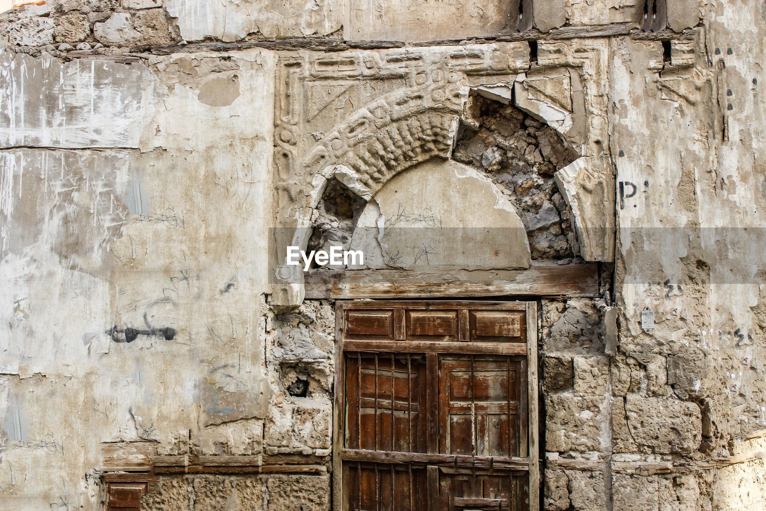 VIEW OF OLD BUILDING WITH DOOR