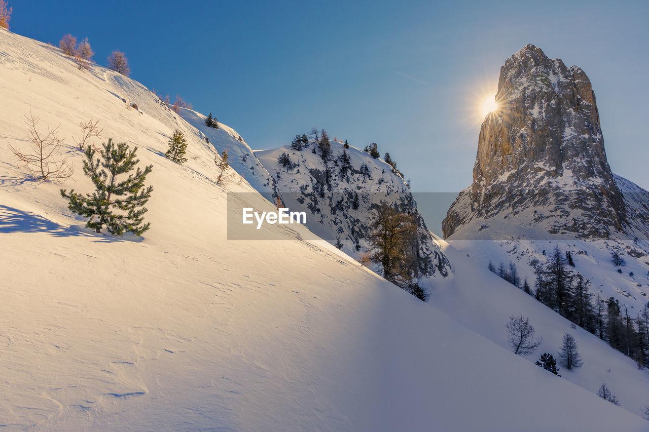 Pointe de la selle, queyras, hautes alpes