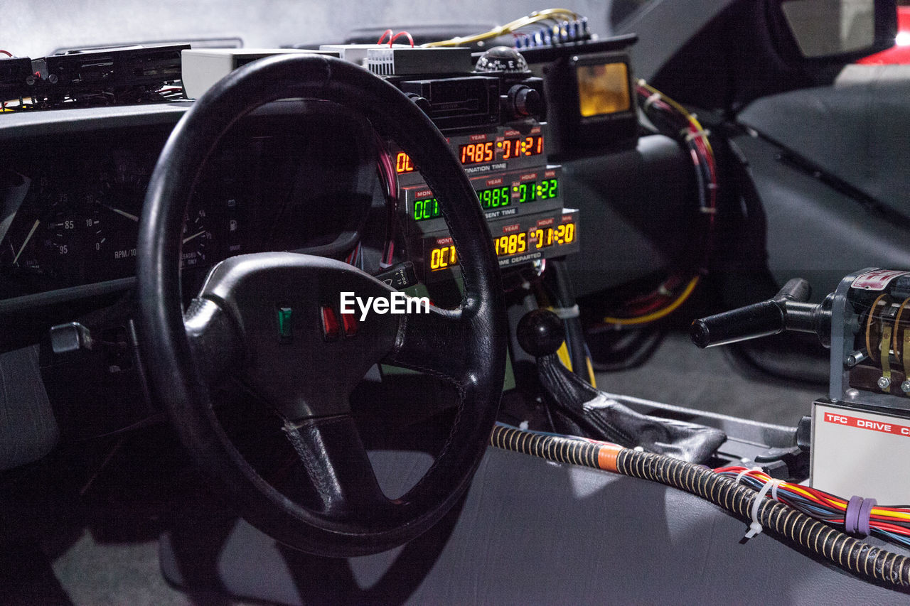 technology, transportation, dashboard, gauge, close-up, control panel, no people, indoors, day