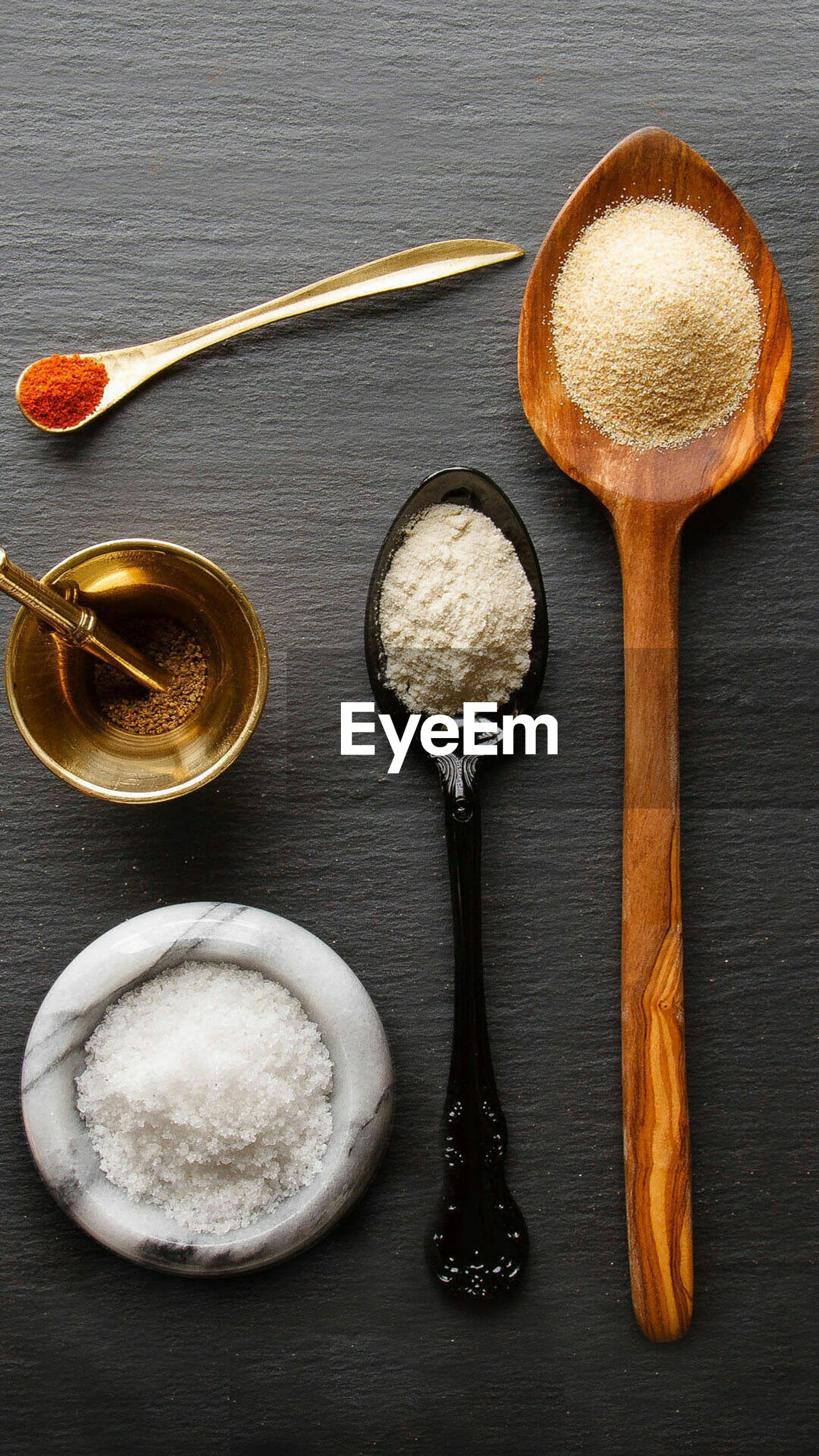 wooden spoon, directly above, food and drink, high angle view, no people, ingredient, indoors, table, food, bowl, freshness, close-up, day