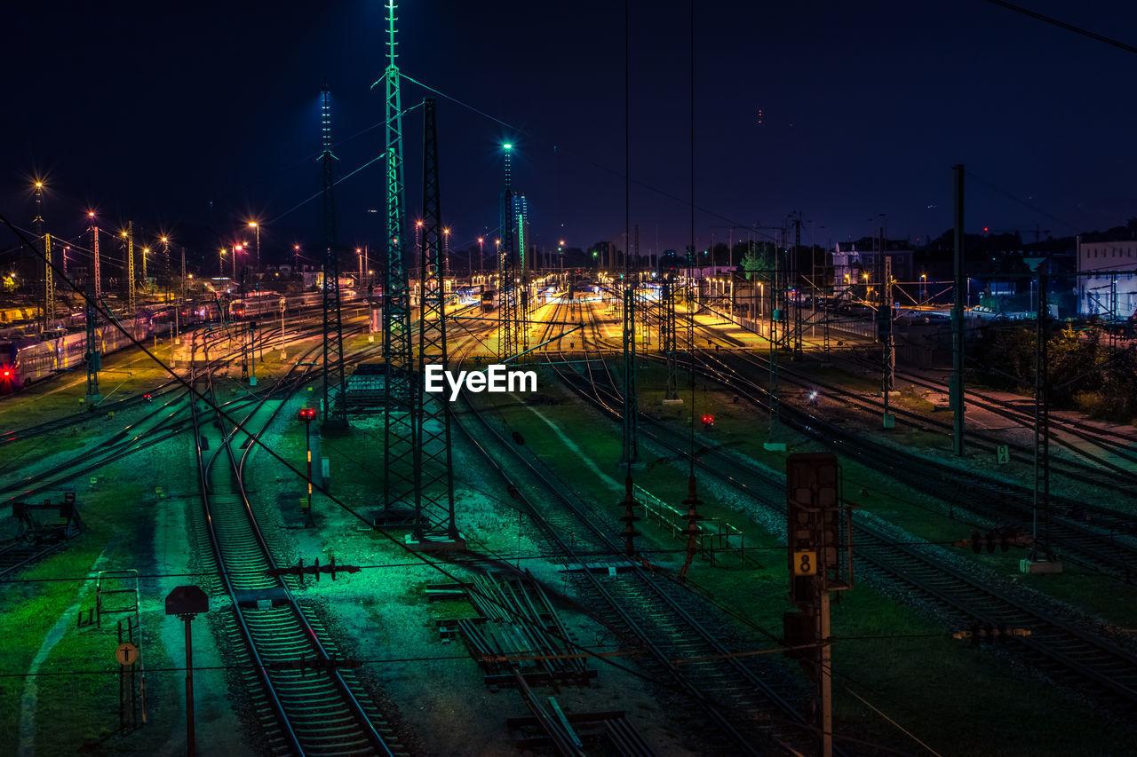 High Angle View Of Railway Tracks