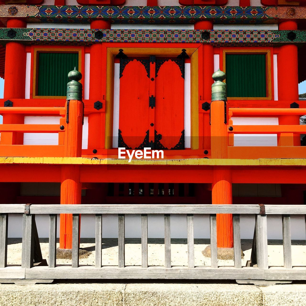 architecture, built structure, red, building exterior, building, day, no people, place of worship, religion, outdoors, belief, orange color, spirituality, pattern, entrance, architectural column, shrine