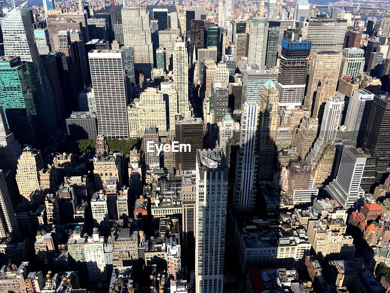 HIGH ANGLE VIEW OF MODERN CITY BUILDINGS