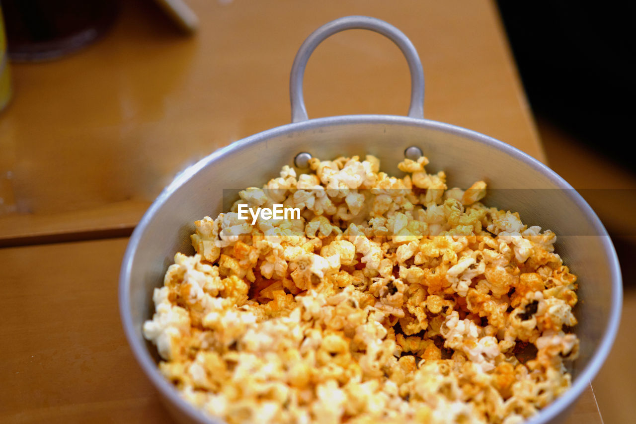food and drink, food, wellbeing, indoors, healthy eating, bowl, freshness, still life, no people, table, close-up, ready-to-eat, meal, focus on foreground, high angle view, selective focus, kitchen utensil, breakfast cereal, rice - food staple, breakfast, snack