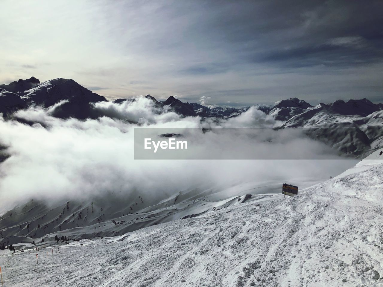 mountain, cloud - sky, winter, sky, beauty in nature, scenics - nature, cold temperature, snow, tranquil scene, tranquility, environment, mountain range, non-urban scene, covering, nature, no people, snowcapped mountain, landscape, day, mountain peak