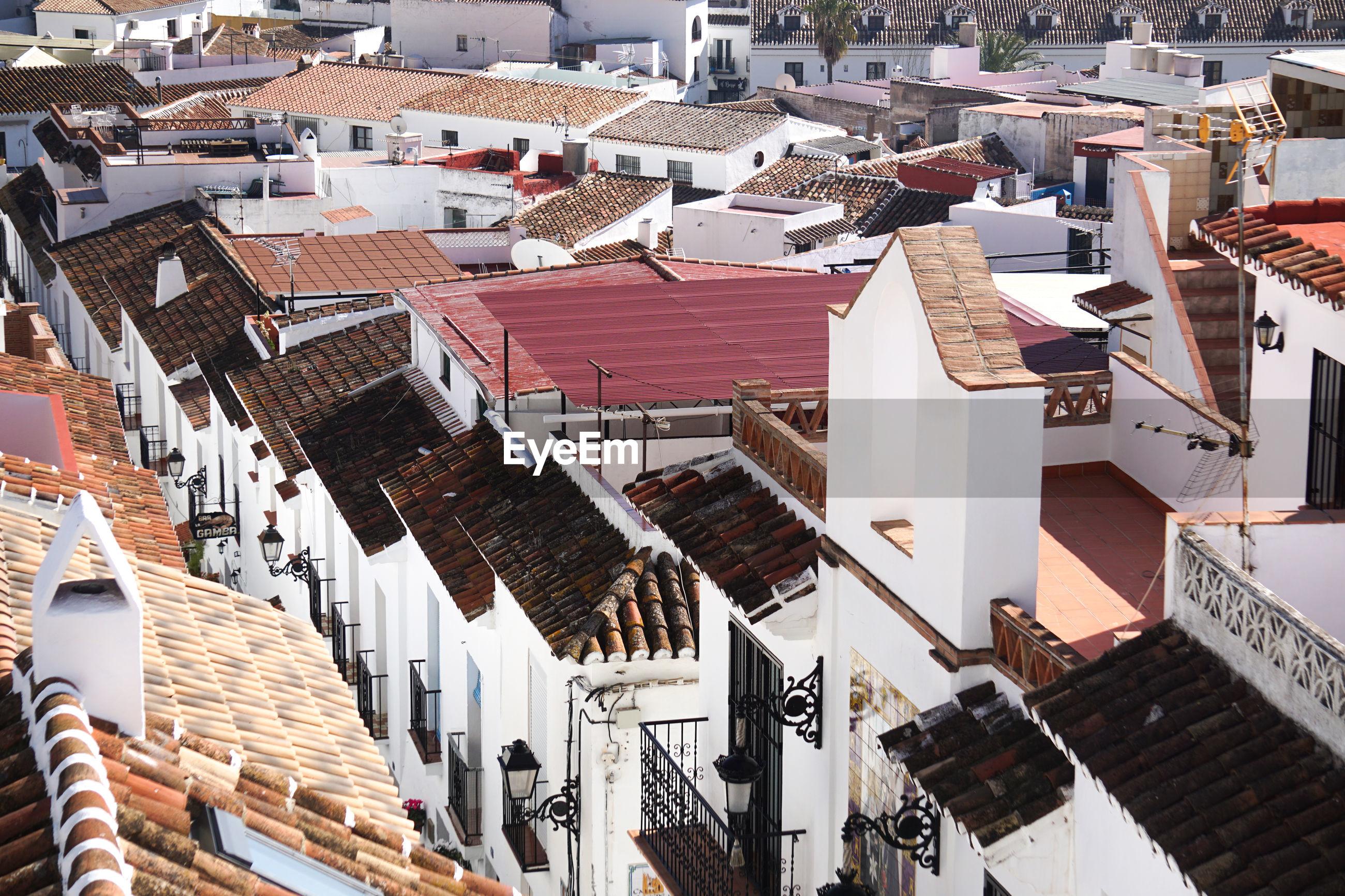 Roof tops in mijas