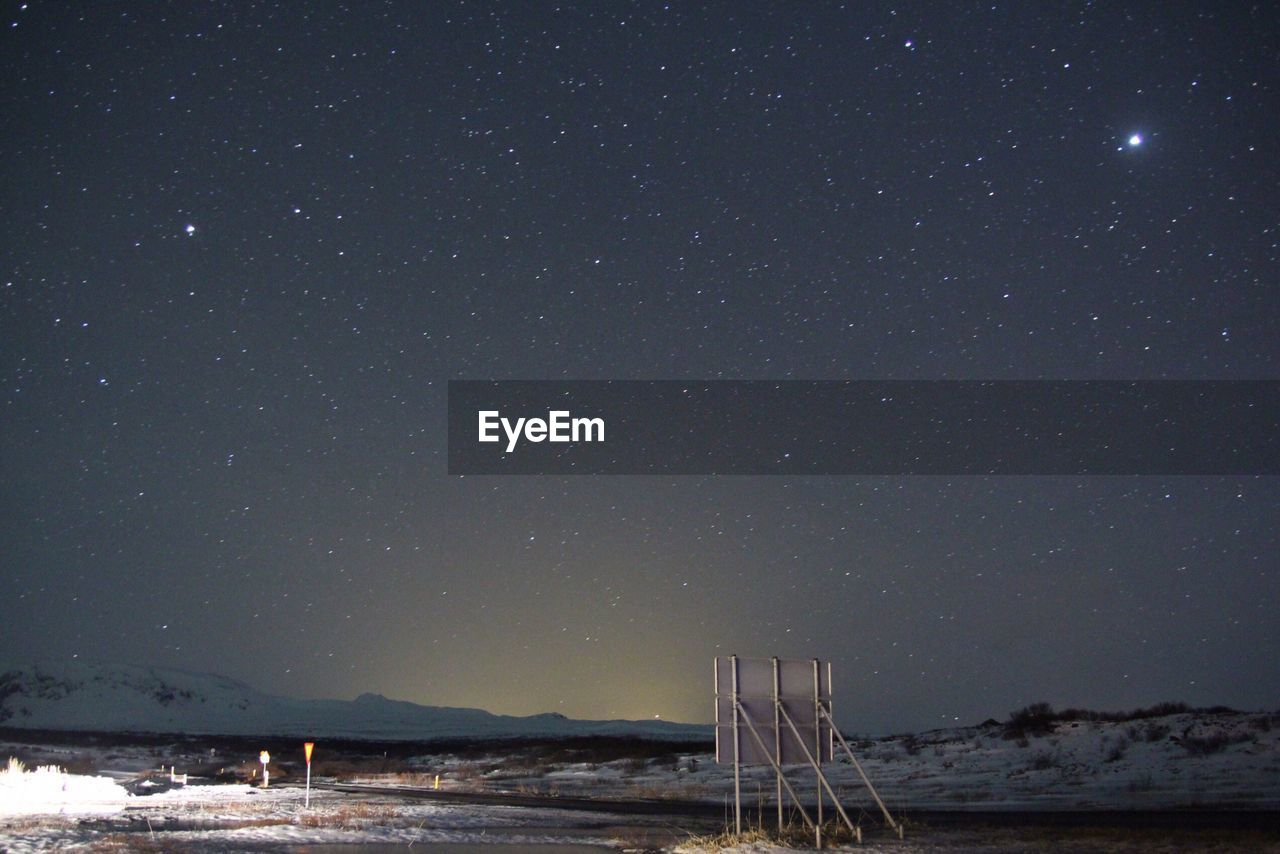 View of starry sky at night