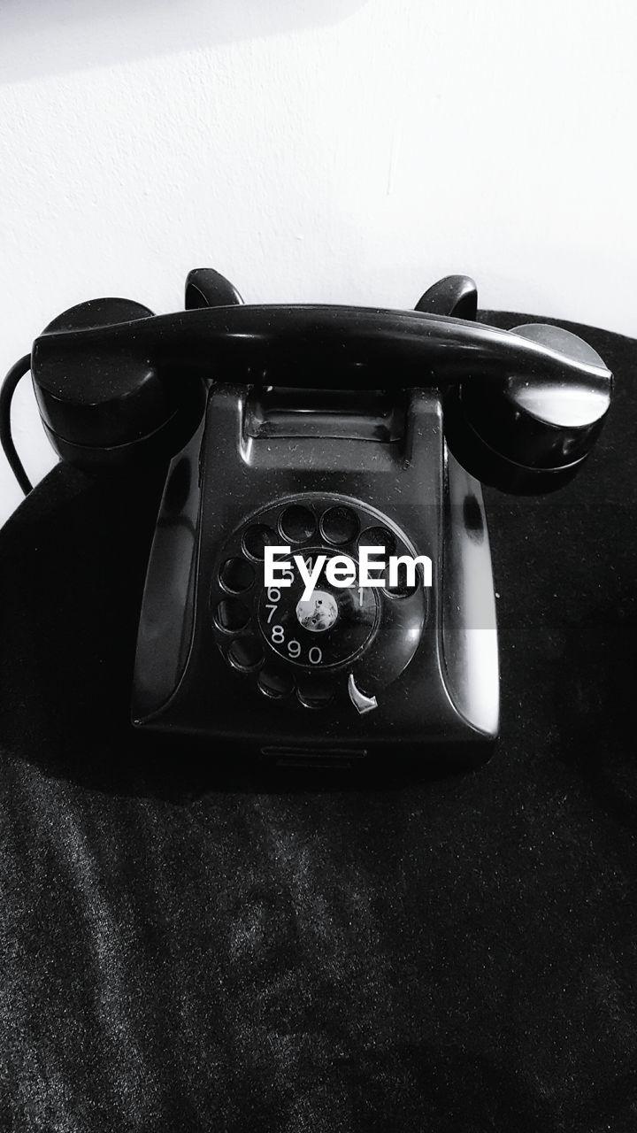 Close-up of retro styled telephone