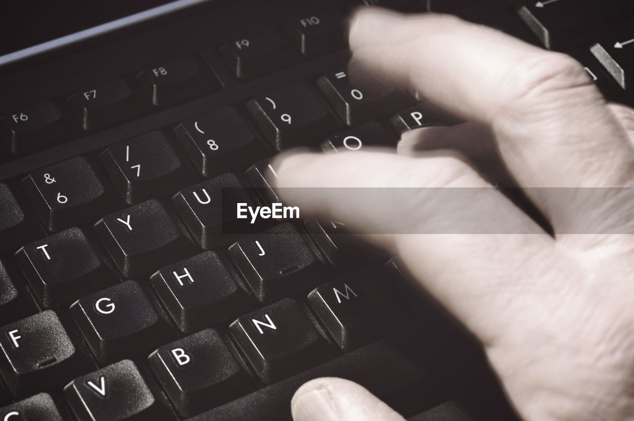human hand, computer equipment, computer keyboard, keyboard, hand, technology, human body part, computer, one person, communication, computer part, computer key, finger, body part, indoors, human finger, high angle view, typing, connection, text, wireless technology