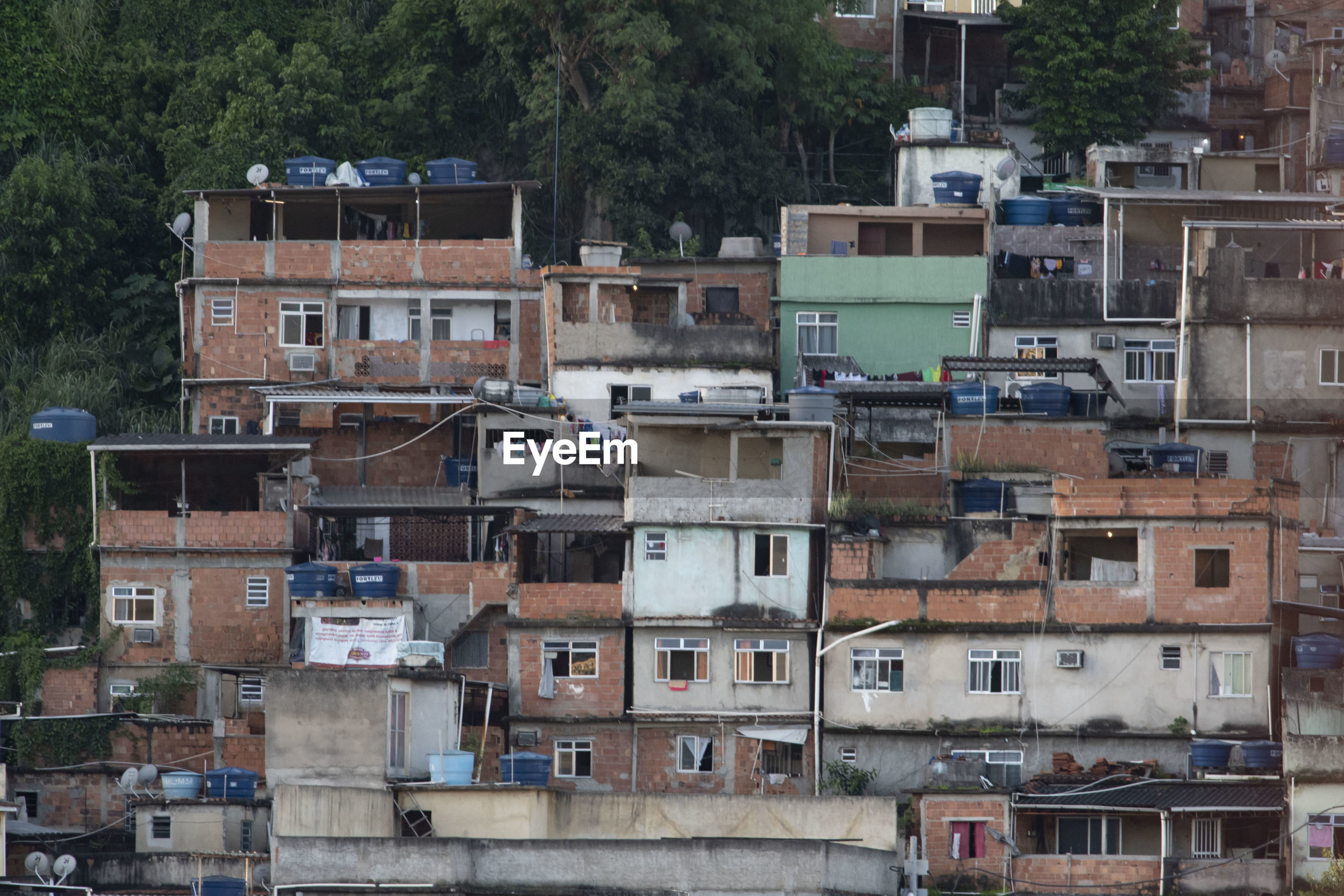View of the community of mangueira, a very densely populated place