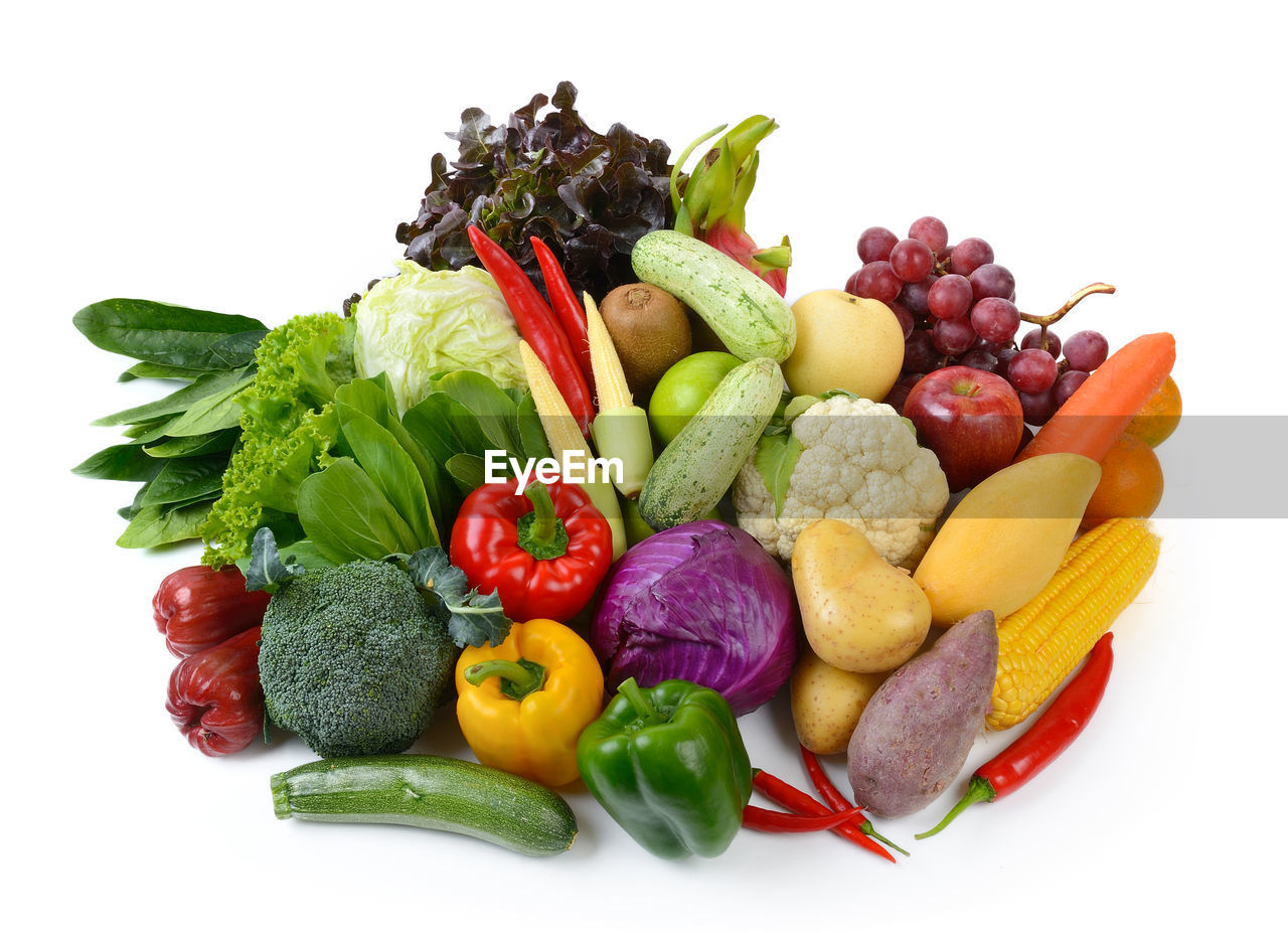 vegetable, food, food and drink, healthy eating, variation, studio shot, white background, choice, wellbeing, multi colored, cut out, tomato, carrot, fruit, root vegetable, indoors, freshness, still life, bell pepper, broccoli, no people, orange, vegetarian food