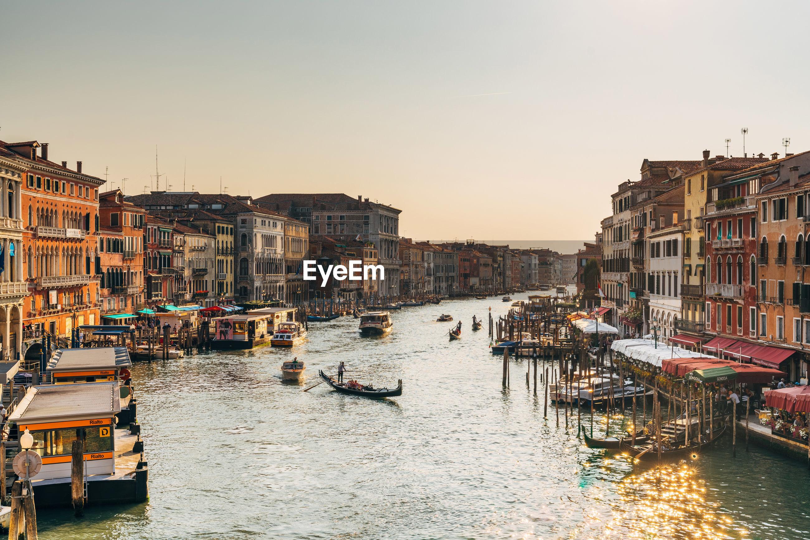 Venice cityscape at sunset