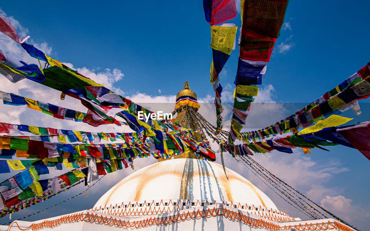 Beautiful view of baudha stupa at kathmanddu, nepal.