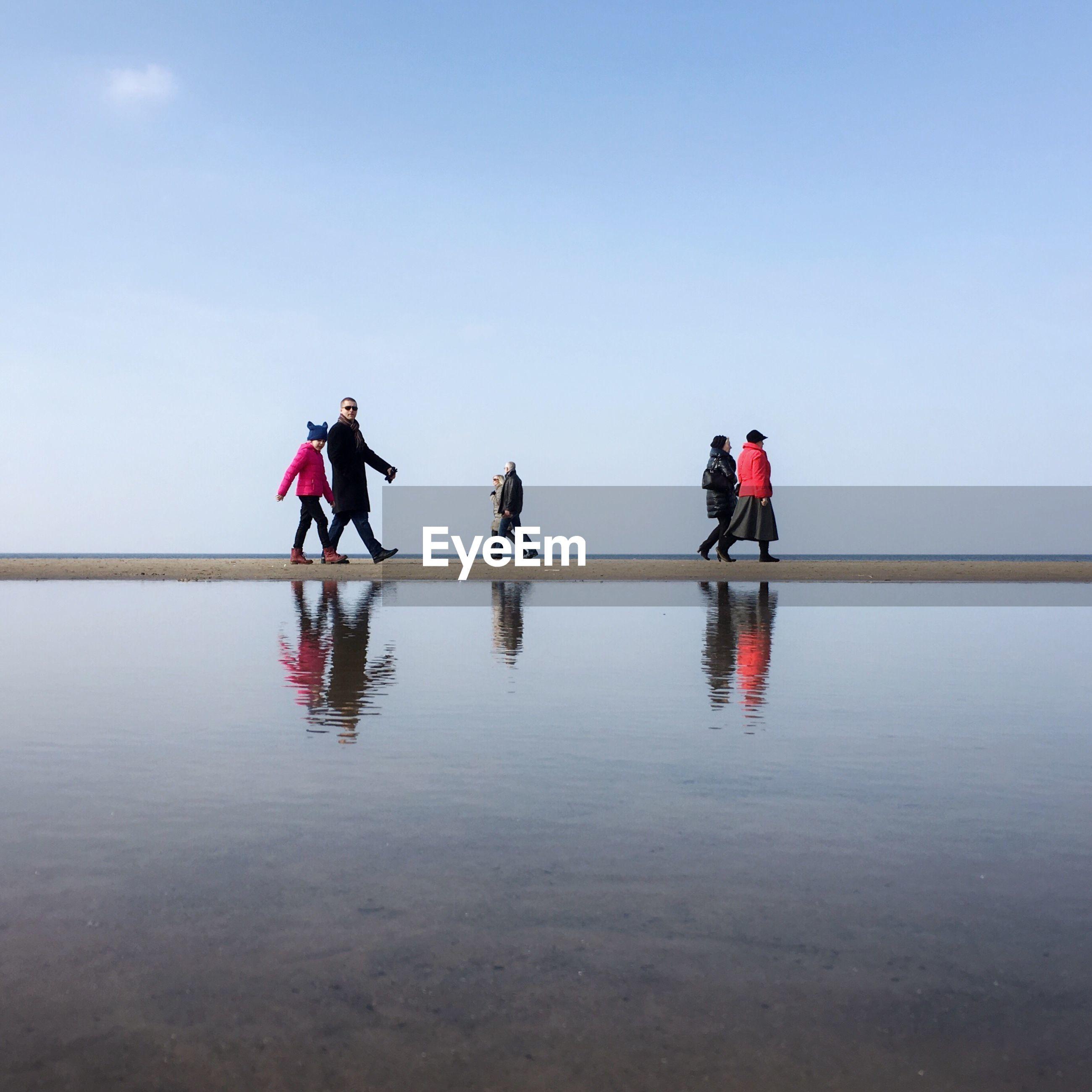 People in water