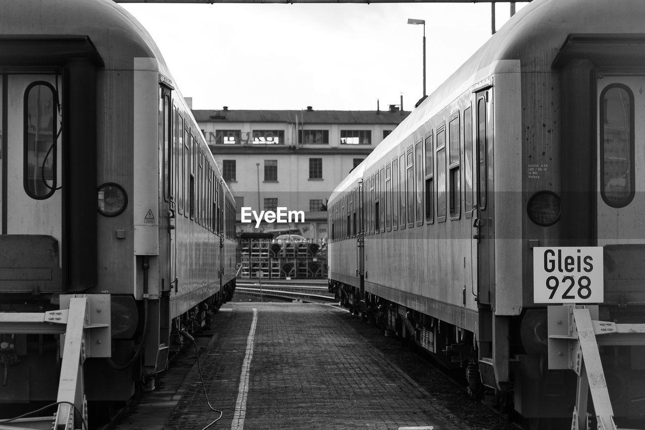 Trains At Depot