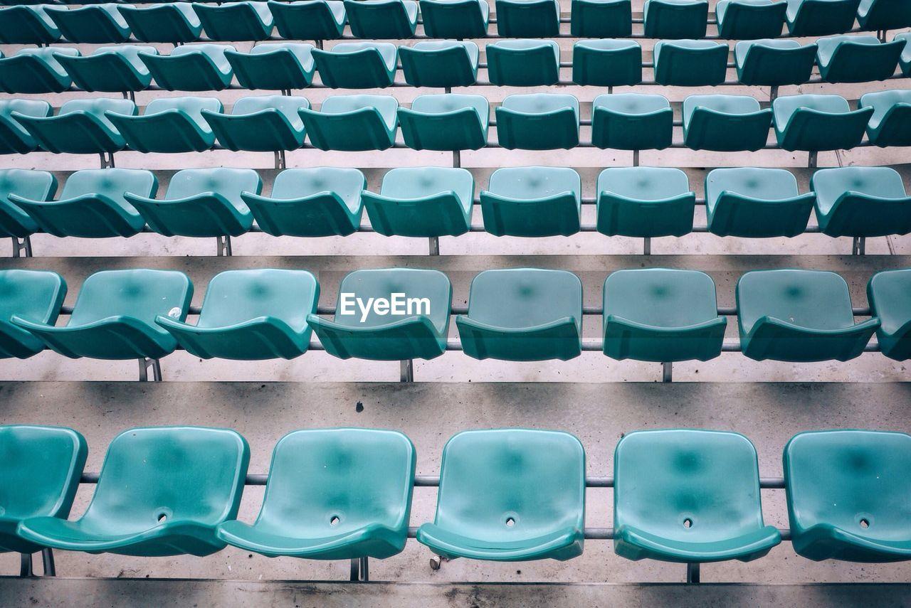 Full Frame Shot Of Seats In Stadium