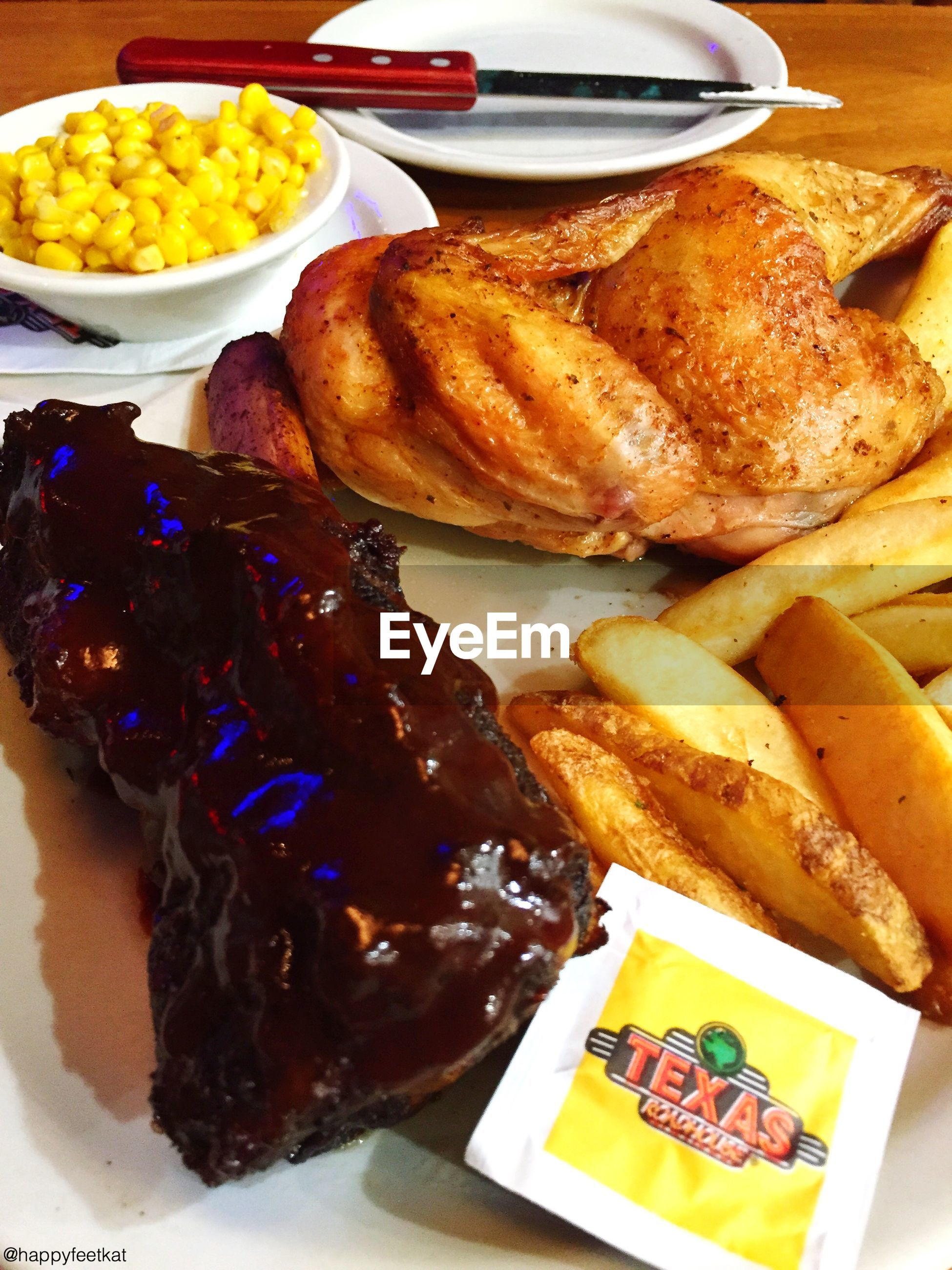 food and drink, food, freshness, ready-to-eat, indoors, plate, still life, indulgence, unhealthy eating, serving size, close-up, meal, table, high angle view, sweet food, meat, french fries, bread, no people