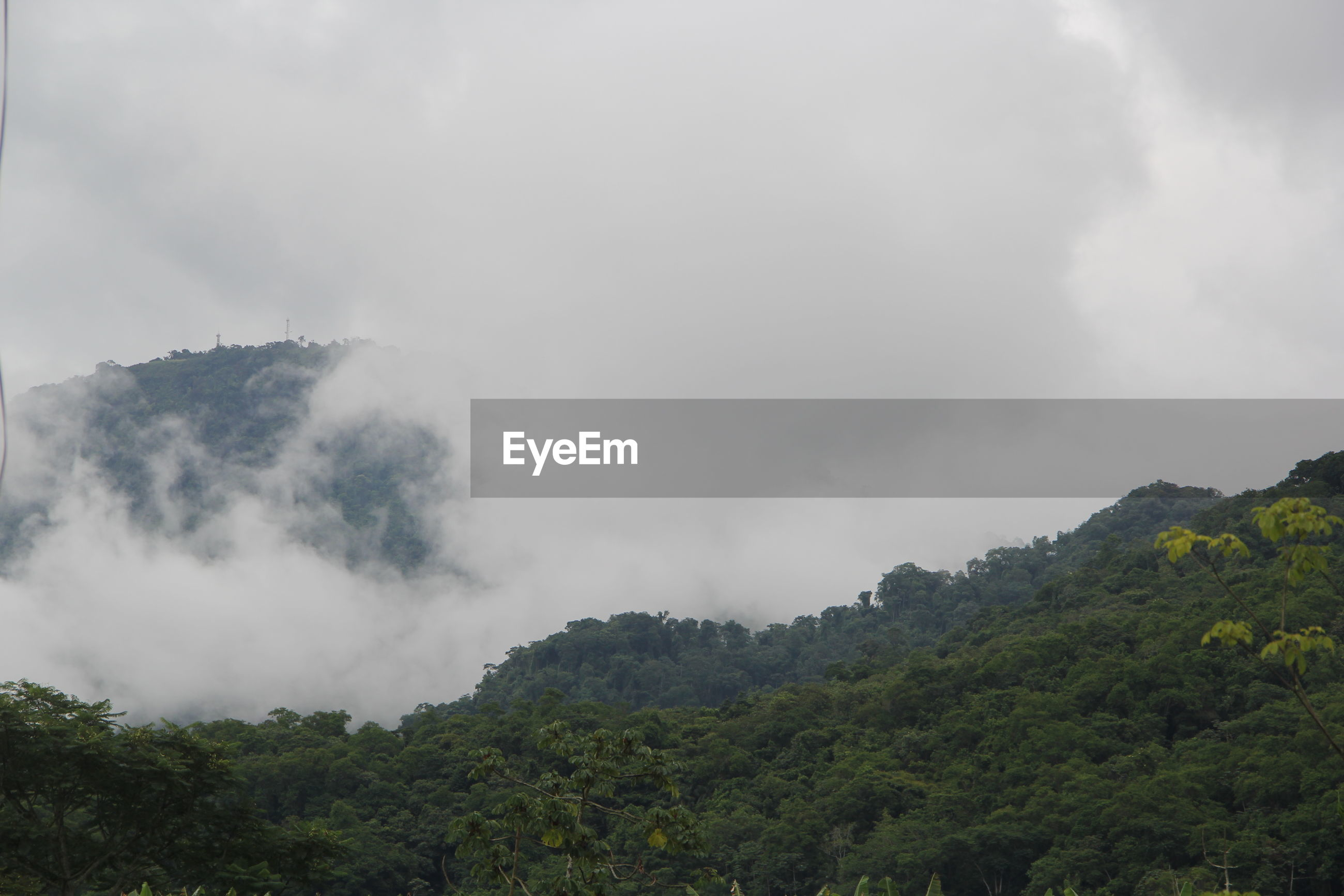 Low angle view of mountain against sky