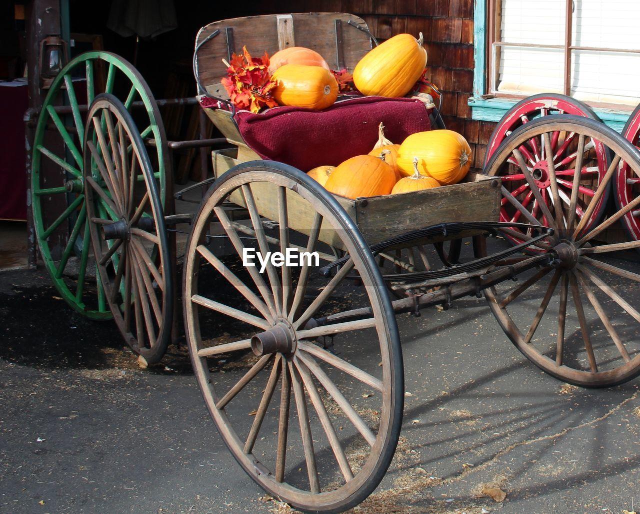 Pumpkins On Cart