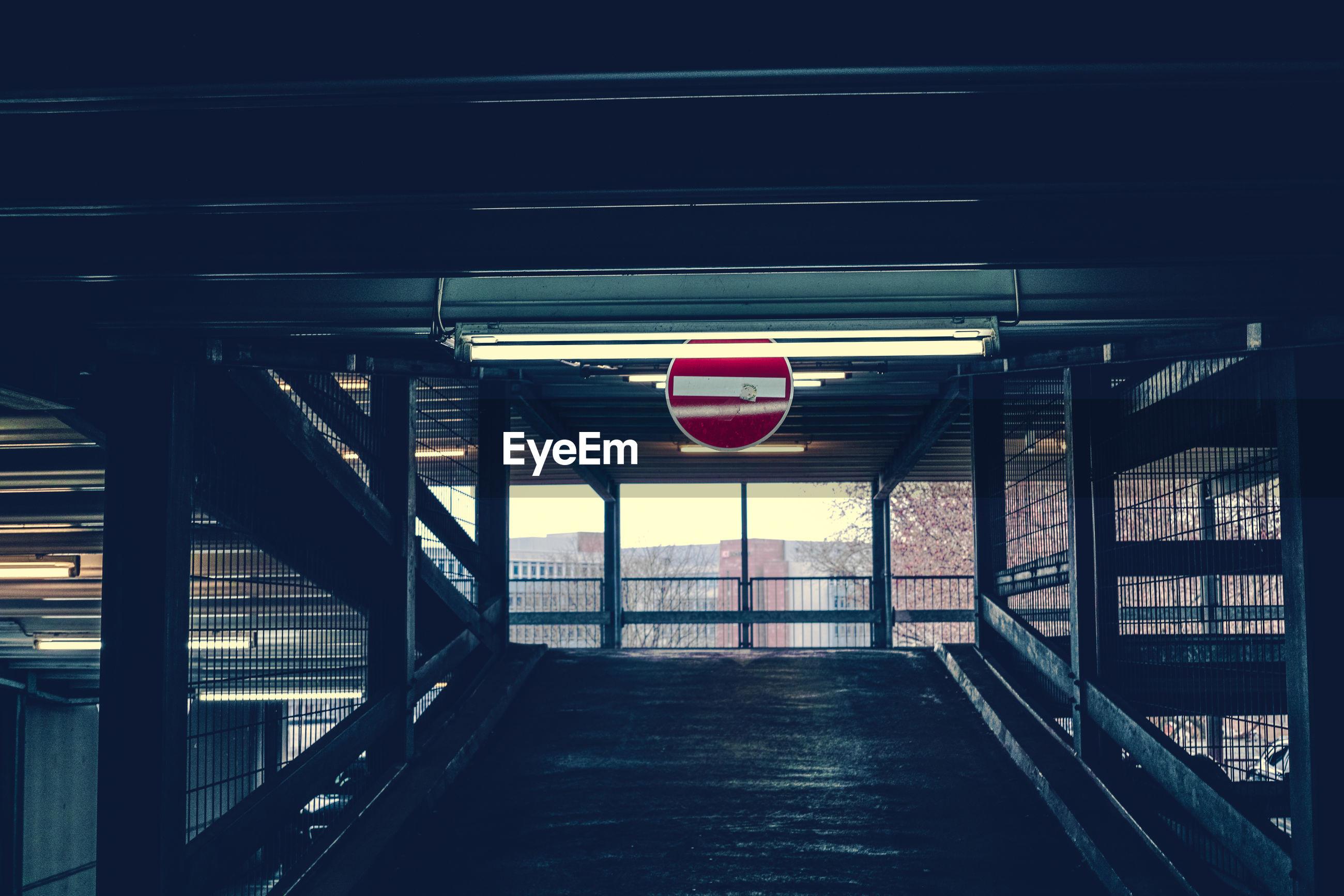 Do not enter sign on foot bridge at railroad station