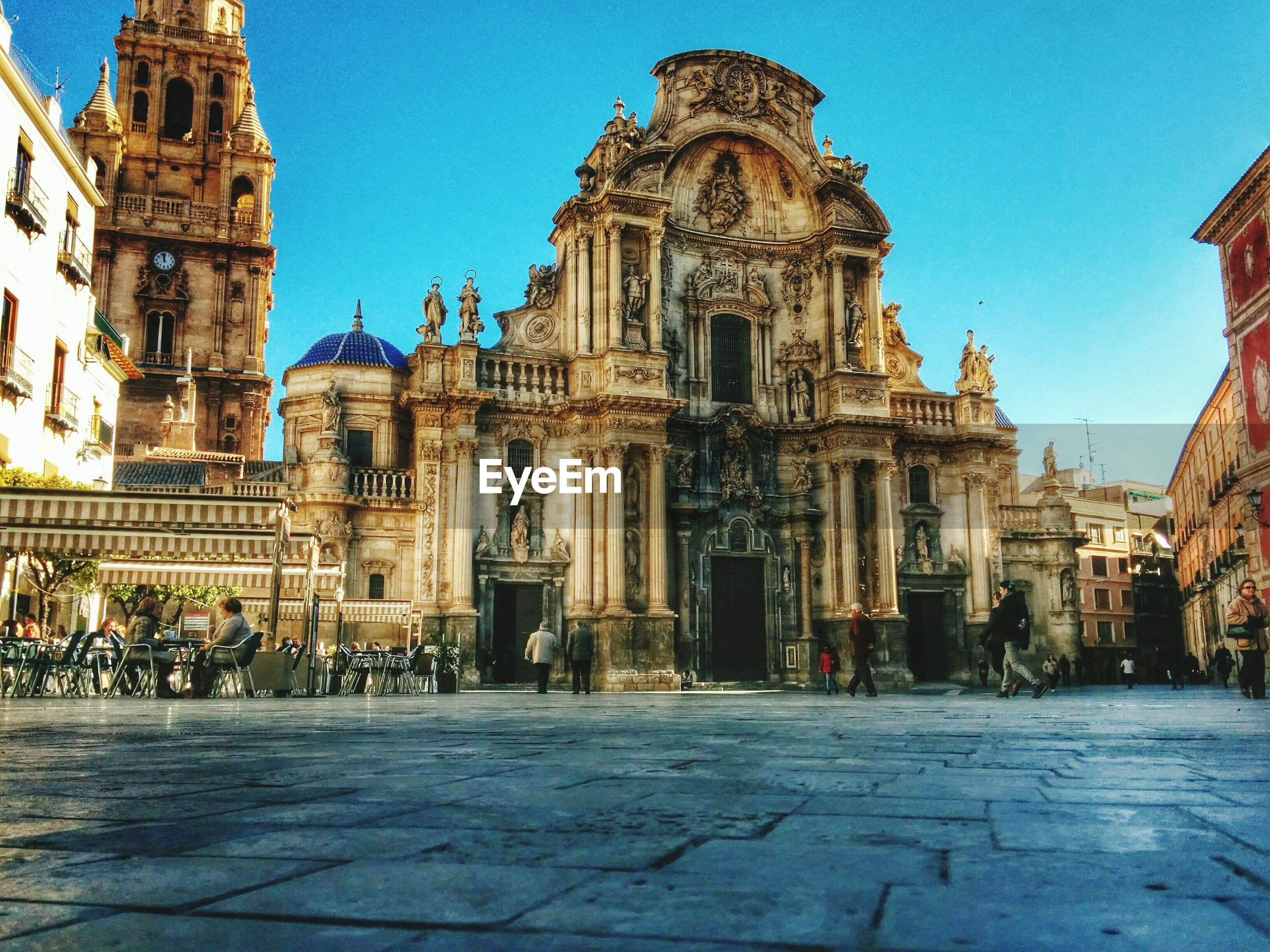 building exterior, architecture, built structure, religion, place of worship, spirituality, church, clear sky, blue, history, famous place, cathedral, travel destinations, low angle view, facade, tourism, travel, old